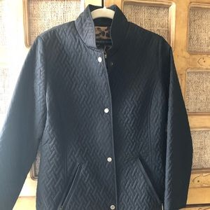 Dana Buchman quilted black Jacket